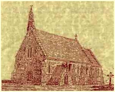 Sketch of St. Kevin's Church | Courtesy of Wicklow Rural Partnership
