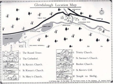 Map of Glendalough