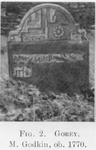 Some 18th Century Irish Tombstones (published in 1943)   Courtesy of the Royal Society of Antiquaries of Ireland