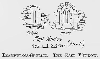 Fig 2 Teampul-na-Skellig. The East Window