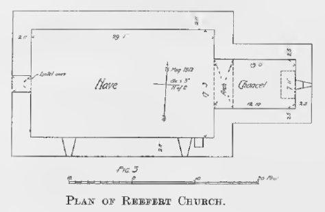 Fig 3 Plan of Reefert Church