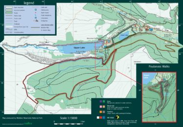 Map of the Glendalough Walking Trails | Courtesy of the NPWS