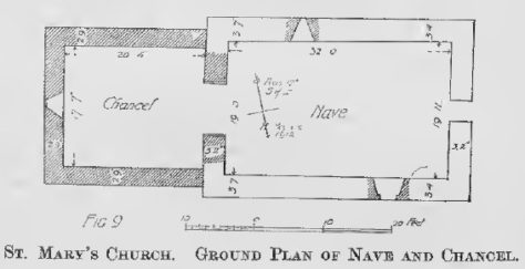 St. Mary's Church. Ground Plan of Nave and Chancel.