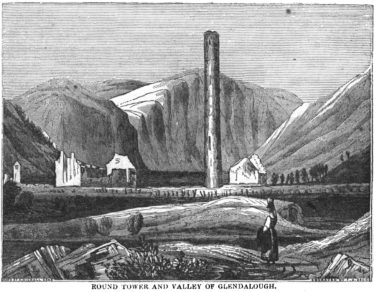 Round Tower and Valley of Glendalough | Courtesy of Dublin Penny Journal/jstor