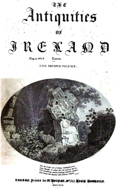 Cover of The Antiquities of Ireland | Courtesy of Google Books