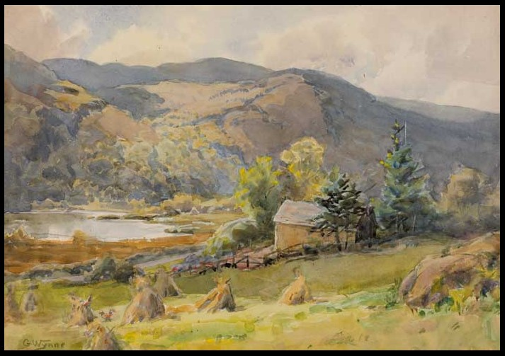 Haystacks in a Valley, Co. Wicklow. | Courtesy of Whyte's