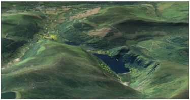 Fig. 3 - Model showing all recorded archaeological sites in the Glendalough Valley