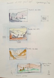 Fig. 4 - Studies of archival material at the National Gallery of Ireland, 2007